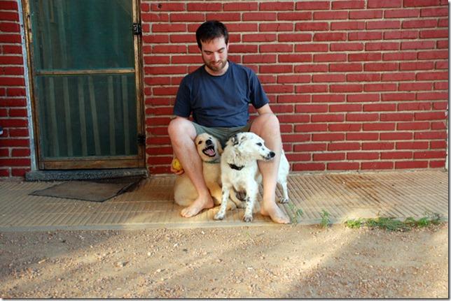 Florian mit Lucy und Pumba